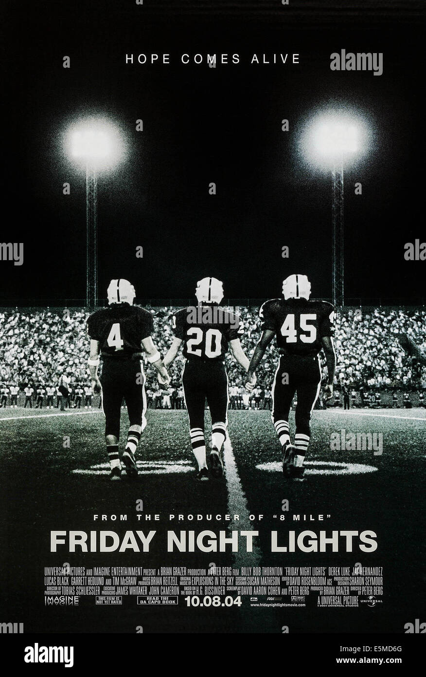 FRIDAY NIGHT LIGHTS, US advance poster art, 2004. ©Universal/courtesy Everett Collection - Stock Image