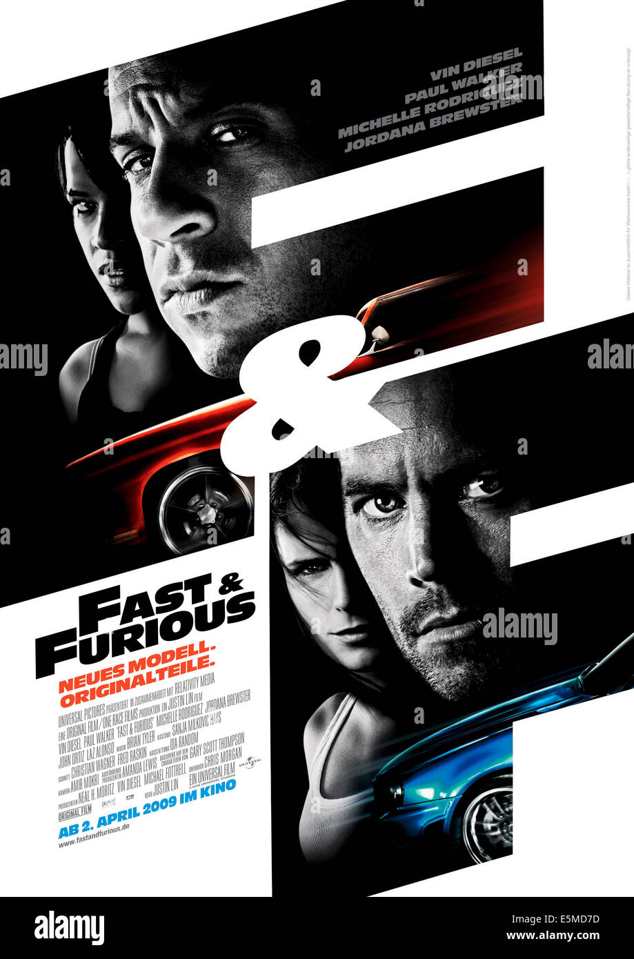 FAST & FURIOUS, (aka FAST AND FURIOUS), top from left: Michelle Rodriguez, Vin Diesel, bottom from left: Jordana Stock Photo