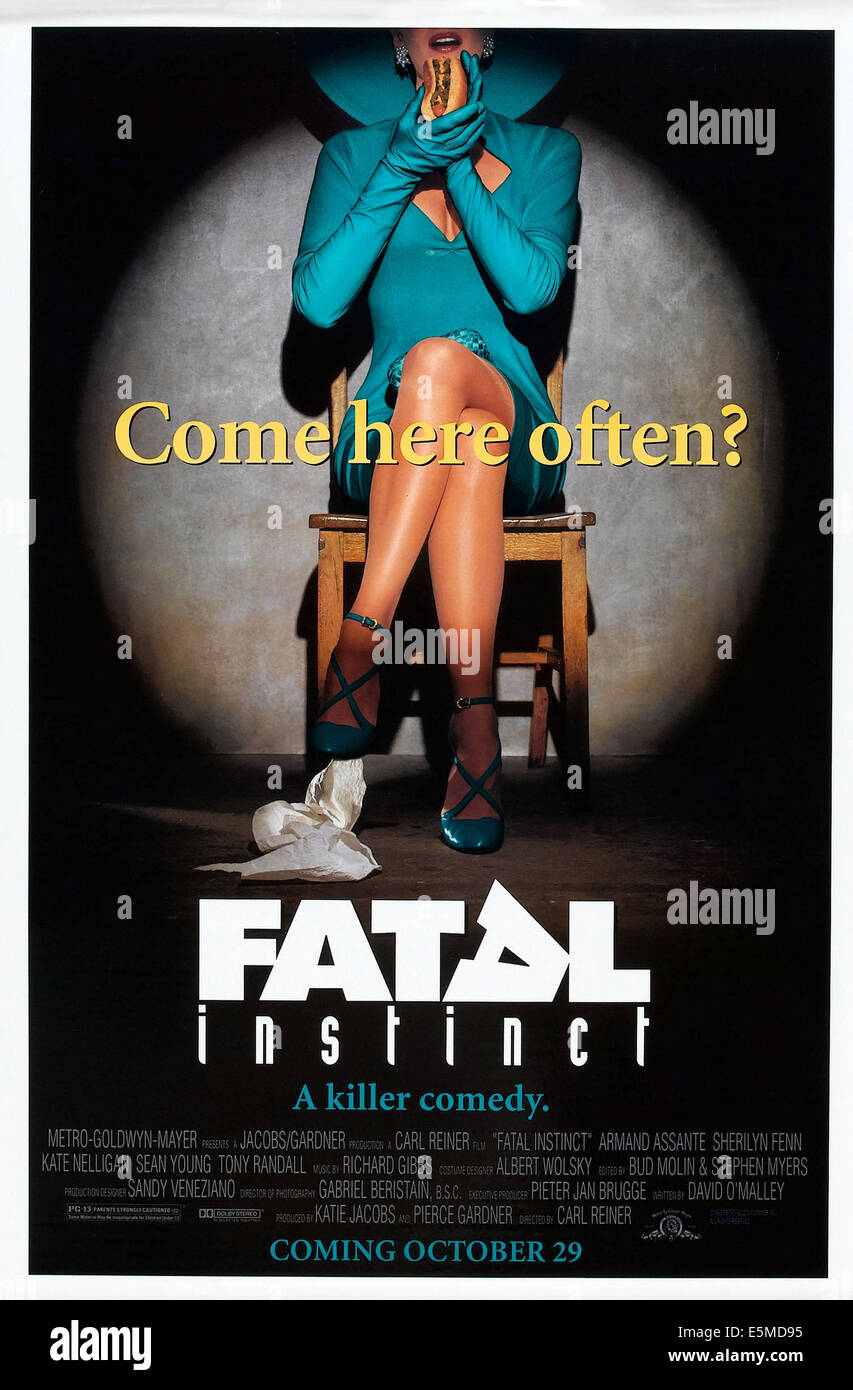 FATAL INSTINCT, advance poster art, 1993, ©MGM/courtesy Everett Collection - Stock Image