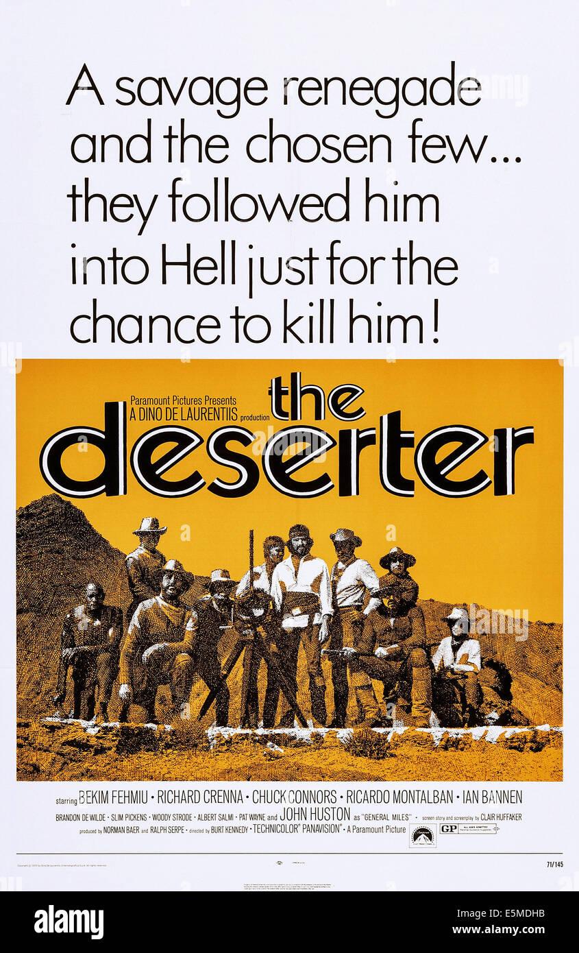 THE DESERTER, US poster art, 1971 Stock Photo