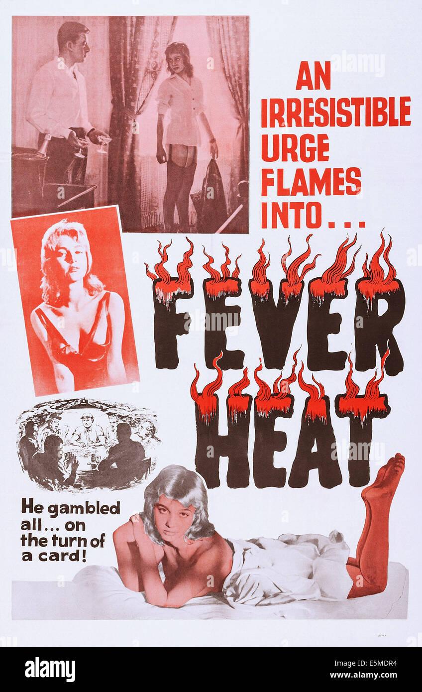 FEVER HEAT, poster art for exploitation film, ca. 1960s. - Stock Image