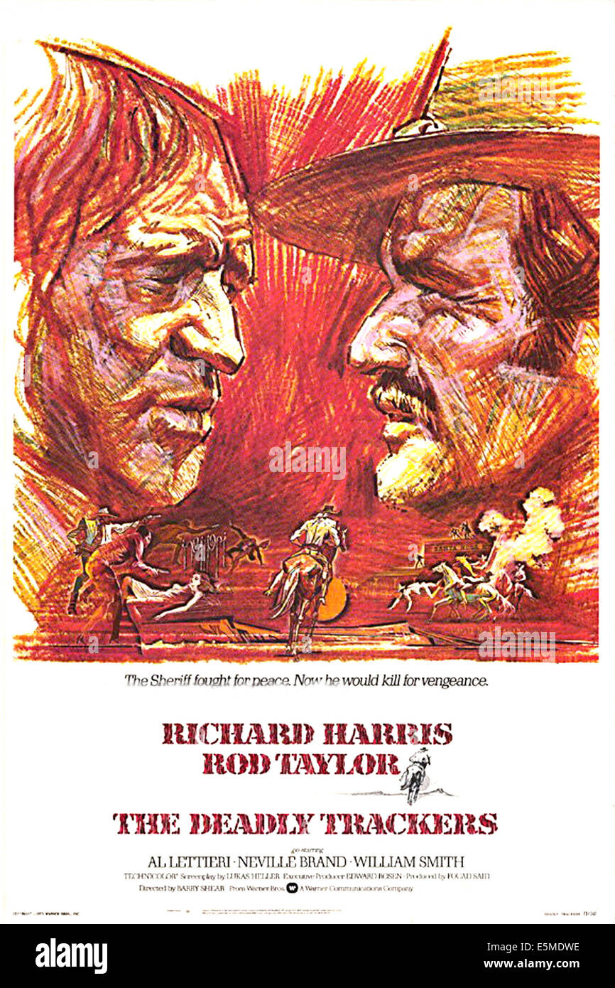 THE DEADLY TRACKERS, Richard Harris, Rod Taylor, 1973 - Stock Image