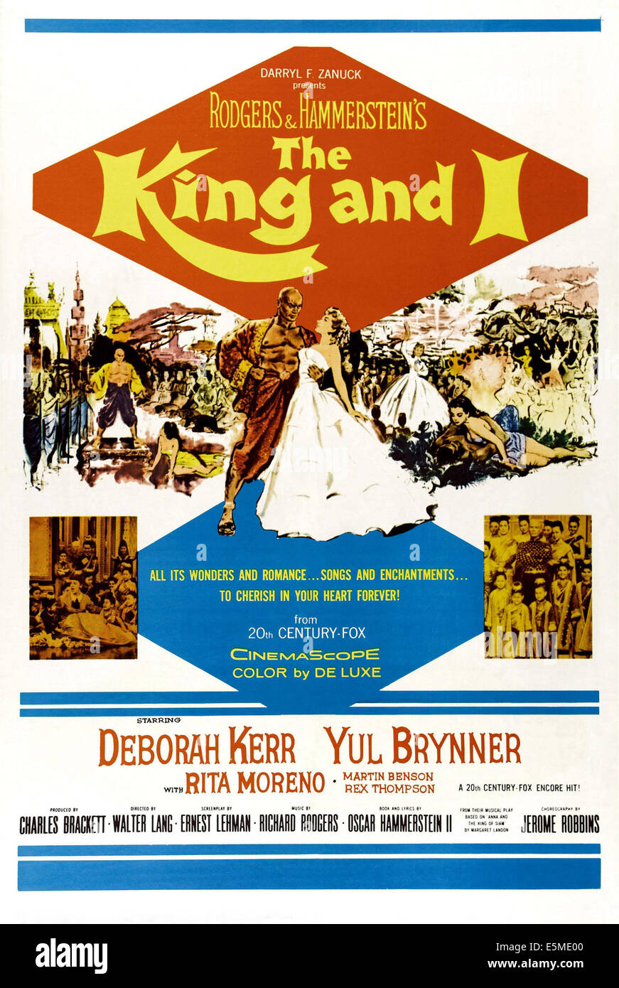 THE KING AND I, from left: Yul Brynner, Deborah Kerr, 1956. ©20th Century-Fox Film Corporation, TM & Copyright/courtesy - Stock Image