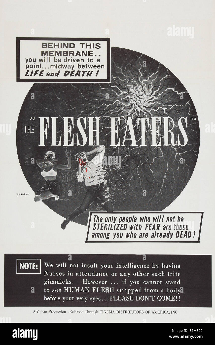 THE FLESH EATERS, poster art, 1964. - Stock Image