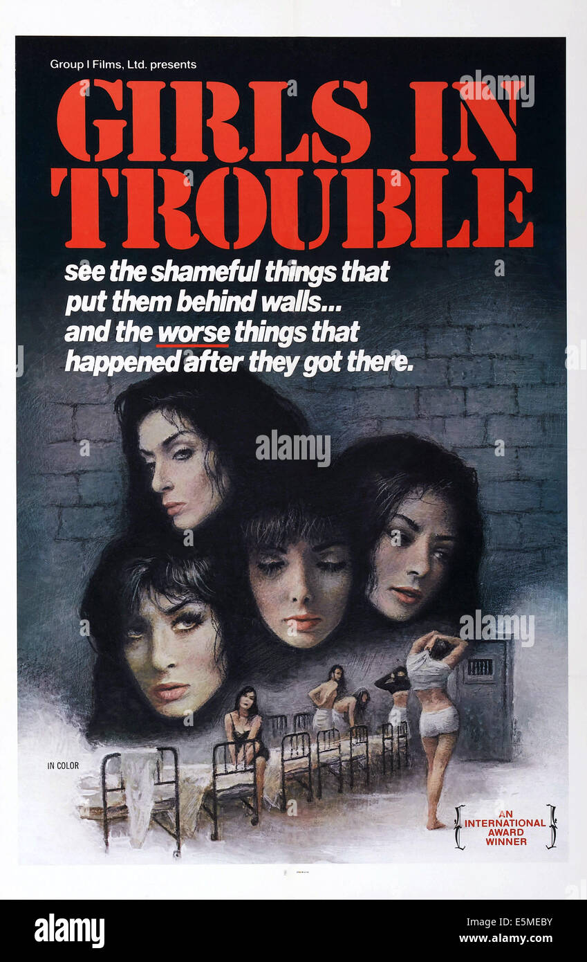 GIRLS IN TROUBLE, US poster, - Stock Image
