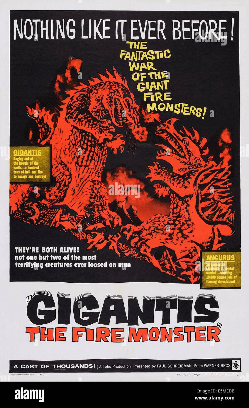 GIGANTIS THE FIRE MONSTER, (aka GODZILLA RAIDS AGAIN, aka GOJIRA NO GYAKUSHU, aka GOJIRA STRIKES AGAIN, aka GOJIRA'S - Stock Image