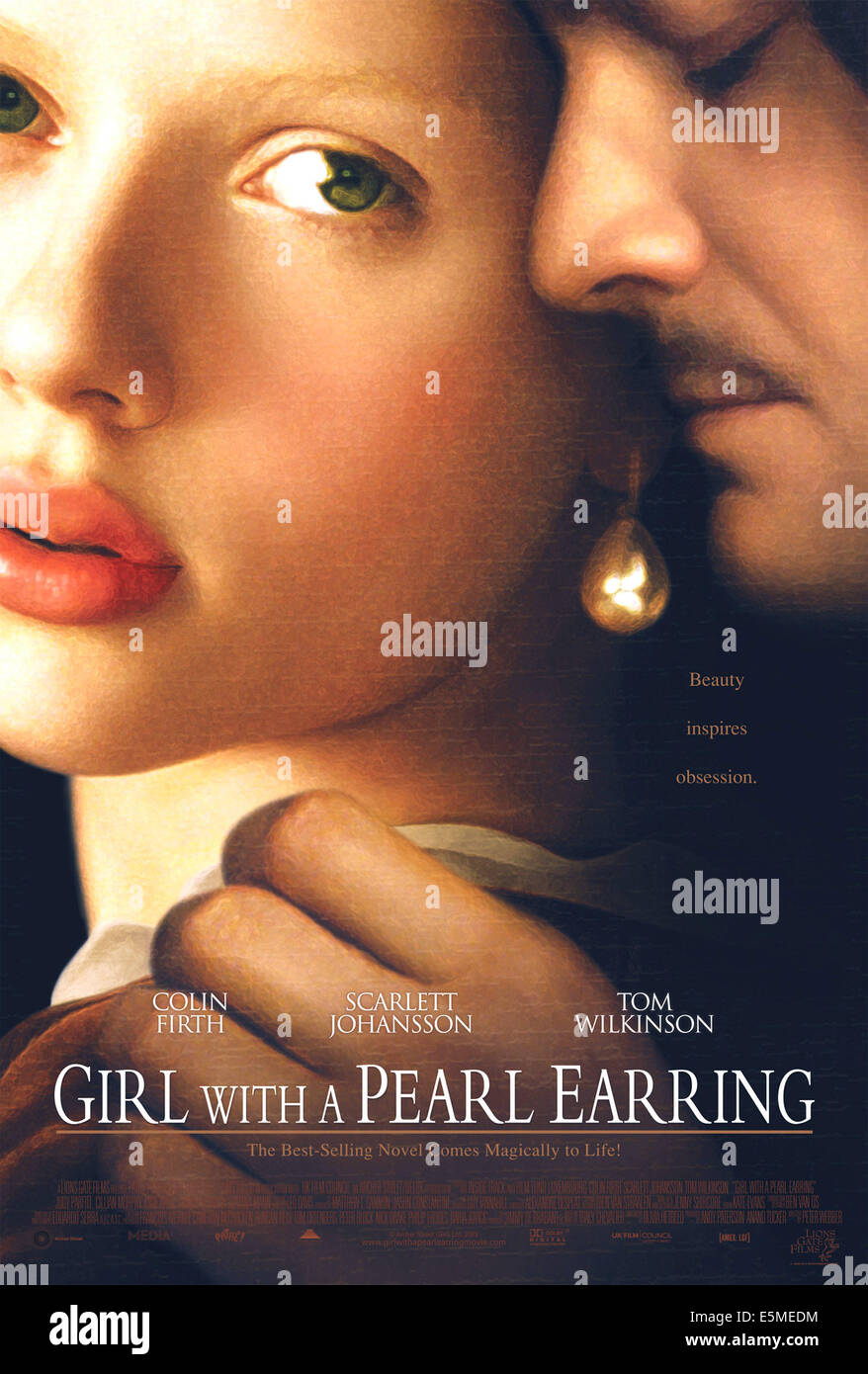 girl pearl earring 2003 scarlett stock photos amp girl pearl