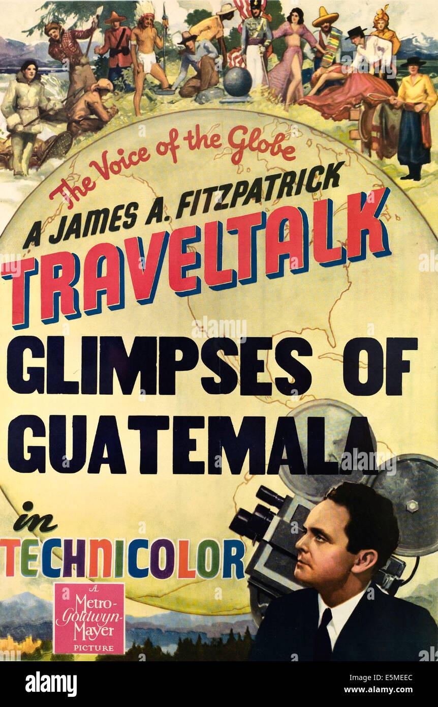 GLIMPSES OF GUATEMALA, (a TRAVELTAlK short), James A. Fitzpatrick, ca. 1930s - Stock Image