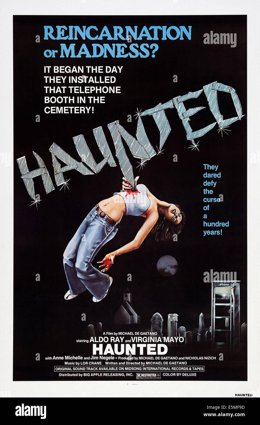 HAUNTED, poster art, 1977 - Stock Image