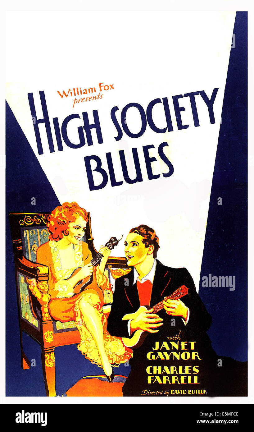 HIGH SOCIETY BLUES, US poster art, from left: Janet Gaynor, Charles Farrell, 1930. TM & copyright ©20th - Stock Image