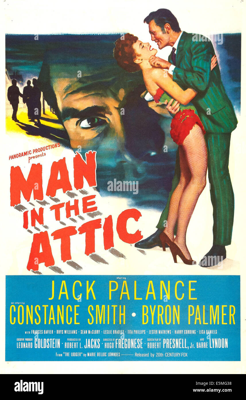 MAN IN THE ATTIC, US poster art, far right: Jack Palance, 1953. TM and copyright©20th Century Fox Film Corp. - Stock Image