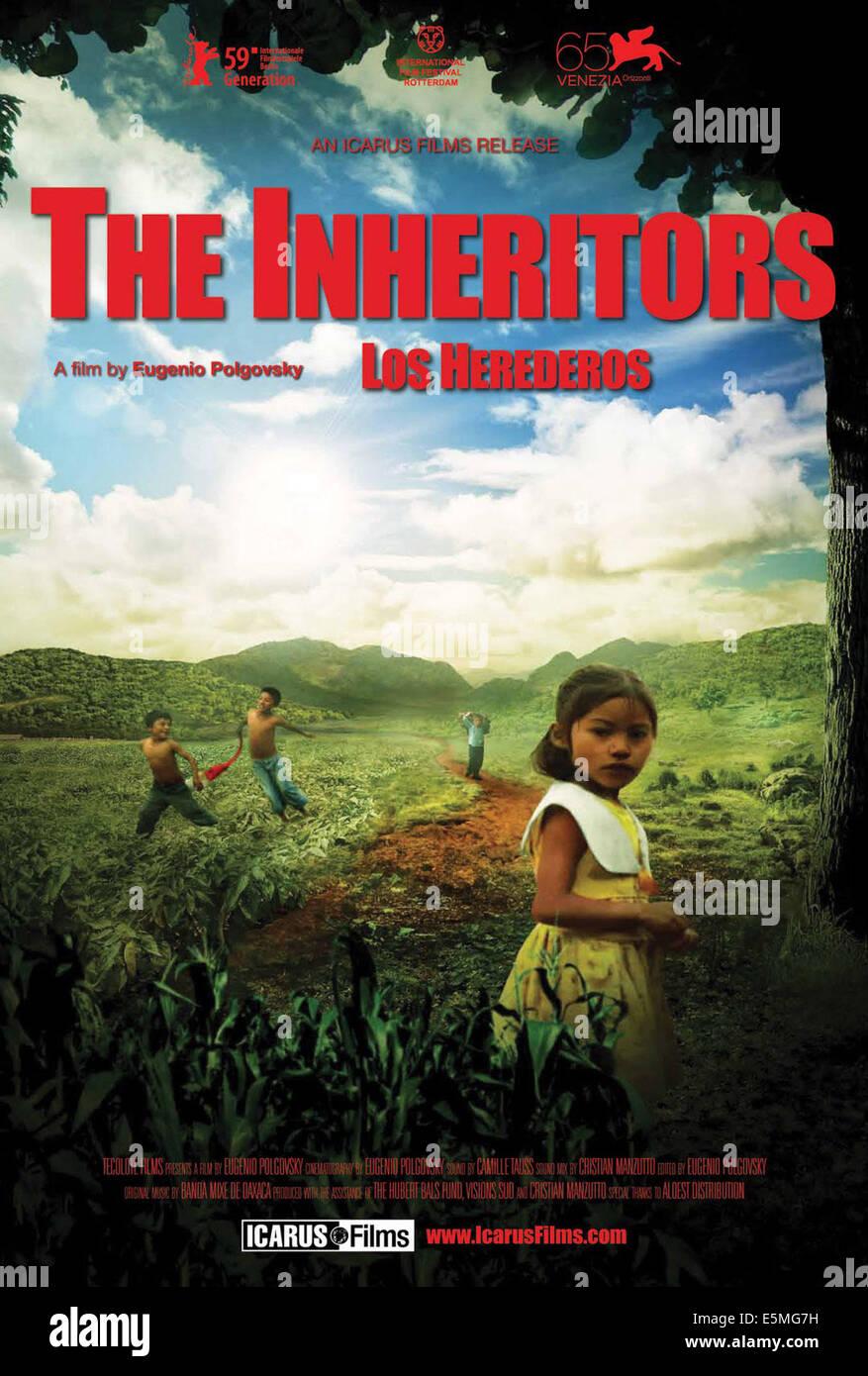 THE INHERITORS, (aka LOS HEREDEROS), US poster art, 2008. - Stock Image