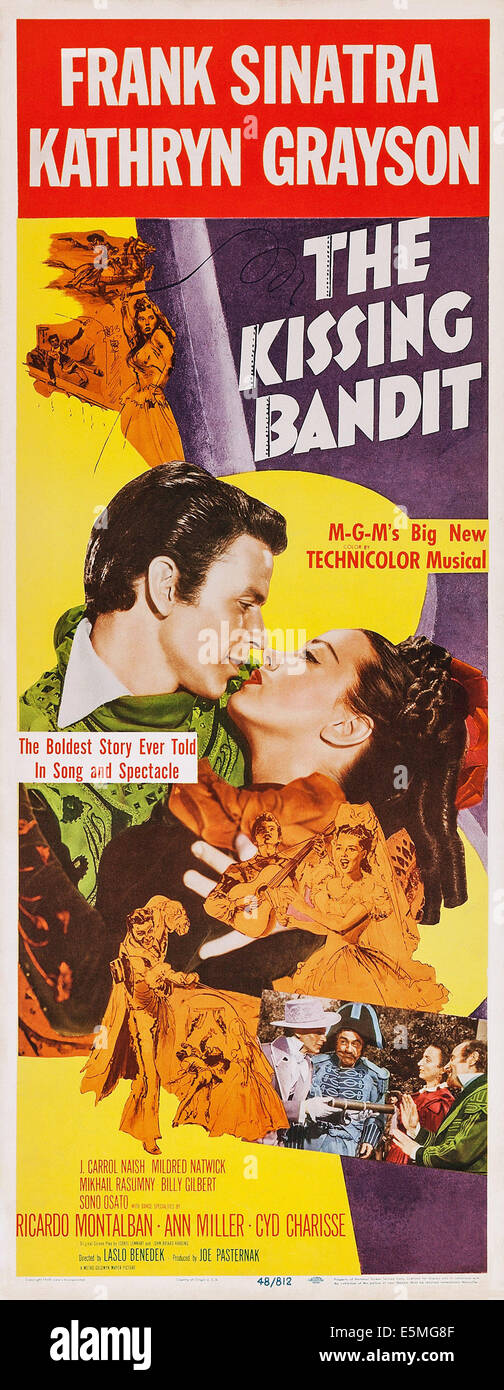THE KISSING BANDIT, US poster art, from left: Frank Sinatra, Kathryn Grayson, 1948 - Stock Image
