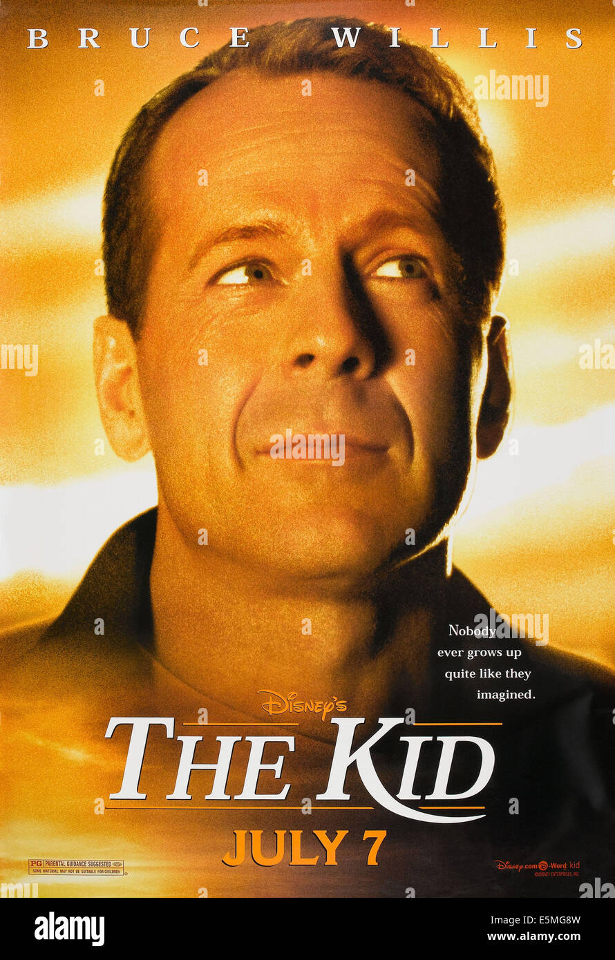 THE KID, US advance poster art, Bruce Willis, 2000, © Buena Vista/courtesy Everett Collection - Stock Image
