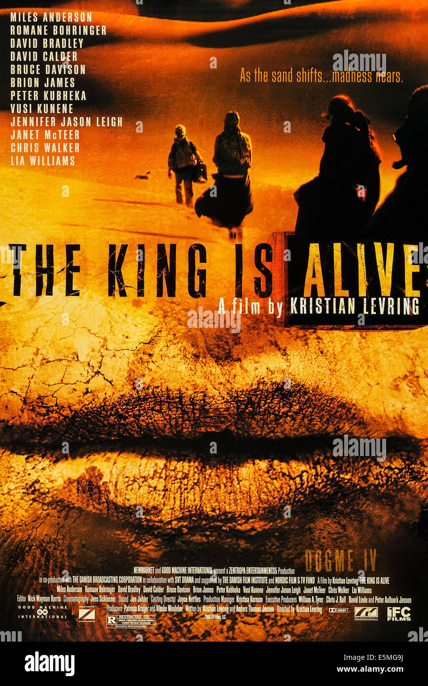 THE KING IS ALIVE, US poster art, 2000, ©IFC Films/courtesy Everett Collection - Stock Image