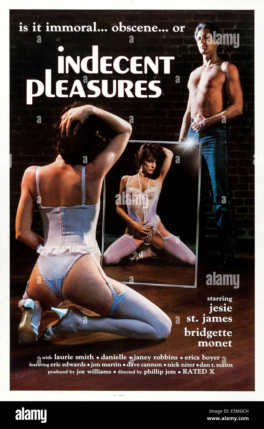 INDECENT PLEASURES, US poster, 1987 - Stock Image
