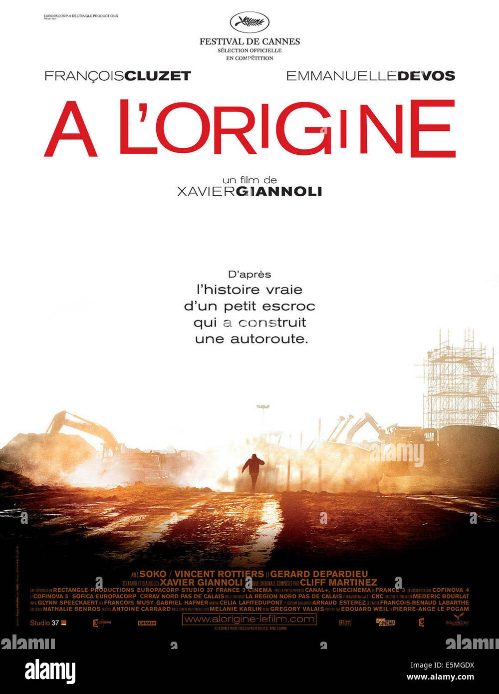 IN THE BEGINNING, (aka A L'ORIGINE), French poster art,
