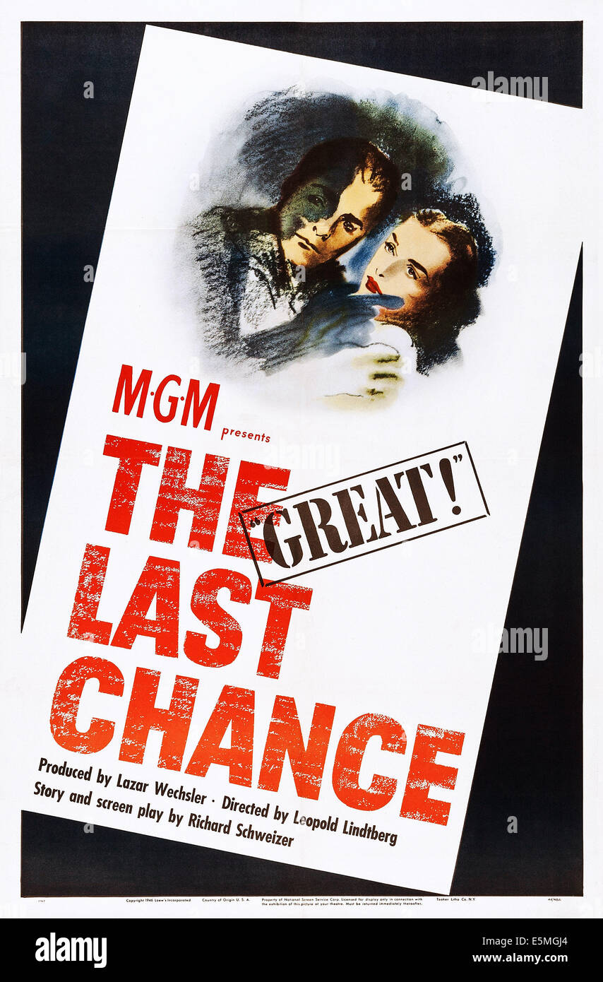 THE LAST CHANCE, poster art, 1945. - Stock Image