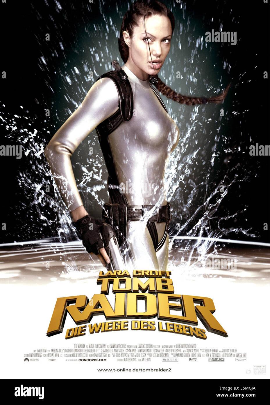 LARA CROFT TOMB RAIDER: THE CRADLE OF LIFE, Angelina Jolie, 2003, (c) Paramount/courtesy Everett Collection - Stock Image