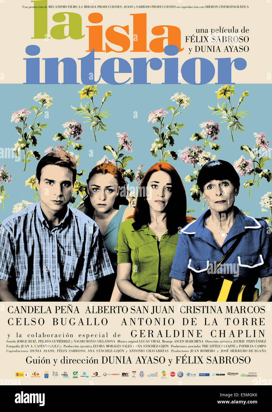 THE ISLAND INSIDE, (aka LA ISLA INTERIOR), Spanish poster art, from left: Alberto San Juan, Candela Pena, Cristina - Stock Image