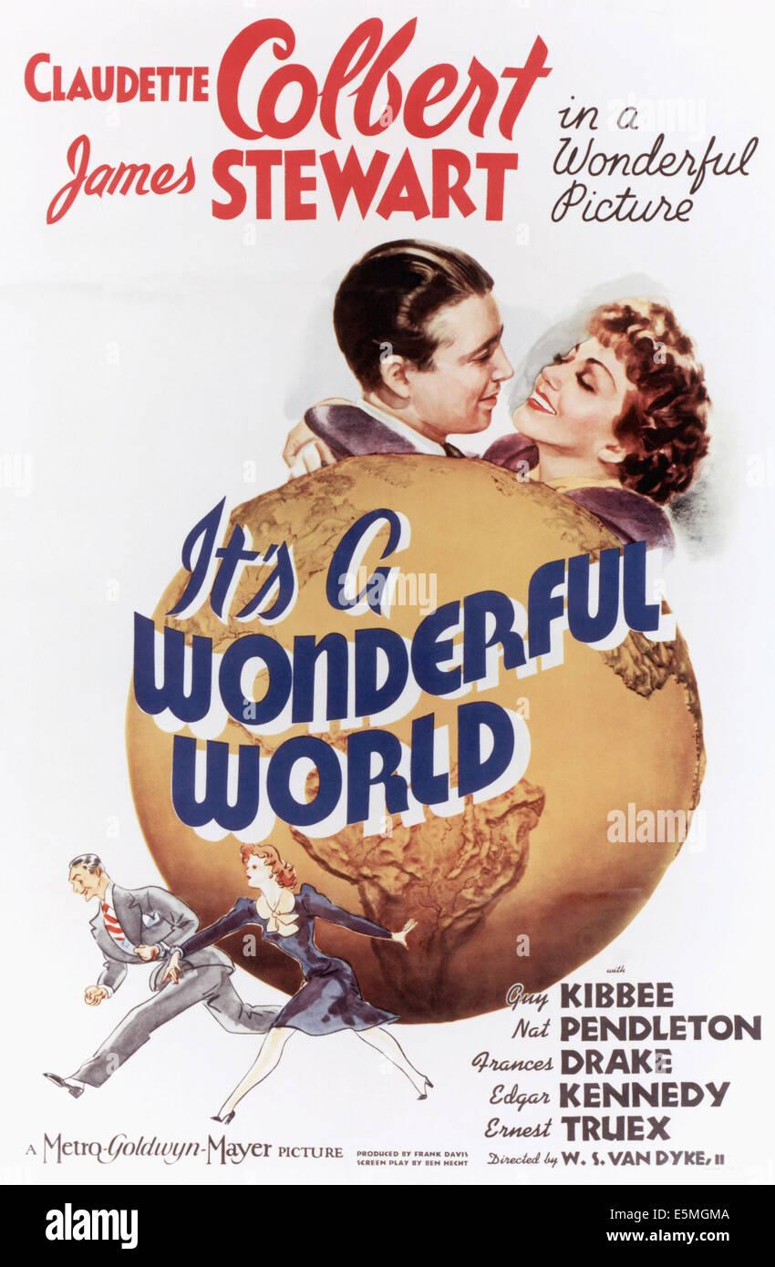 IT'S A WONDERFUL WORLD, James Stewart, Claudette Colbert, 1939 - Stock Image