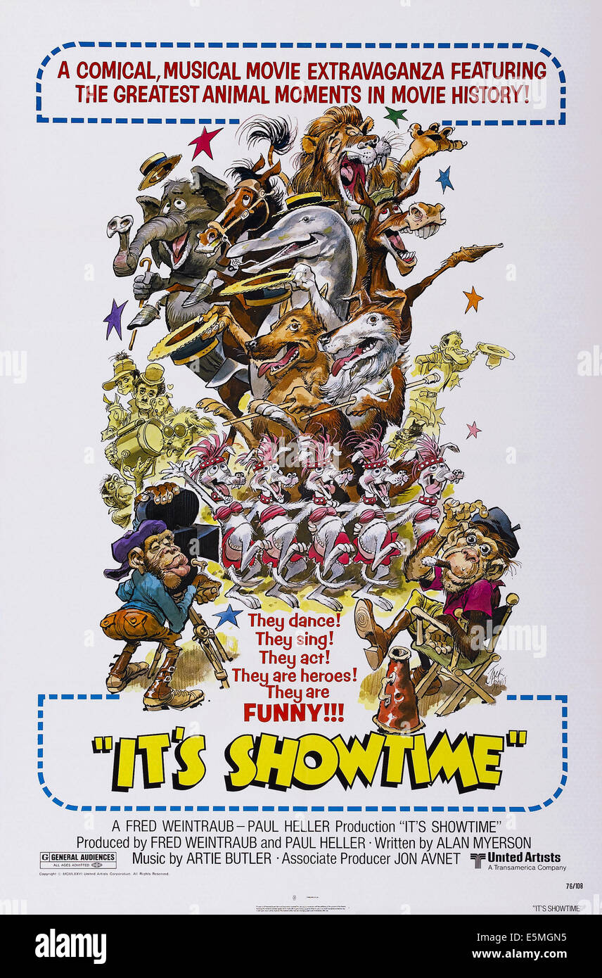 IT'S SHOWTIME, US poster art, 1976 - Stock Image