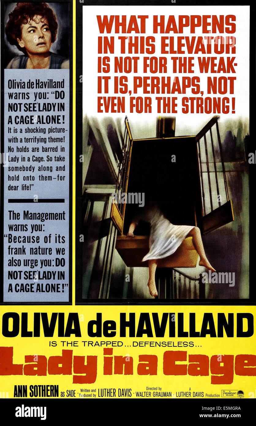 LADY IN A CAGE, Olivia De Havilland, 1964 - Stock Image