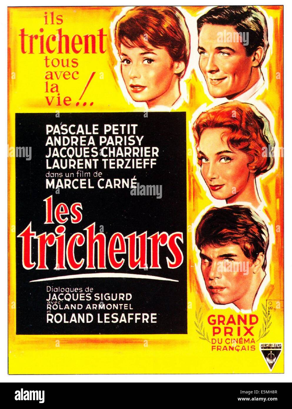 LES TRICHEURS( aka YOUTHFUL SINNERS)French poster art, 1958. - Stock Image