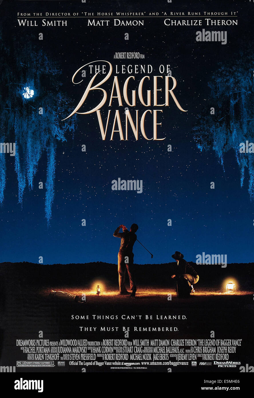 THE LEGEND OF BAGGER VANCE, US poster art, 2000. - Stock Image