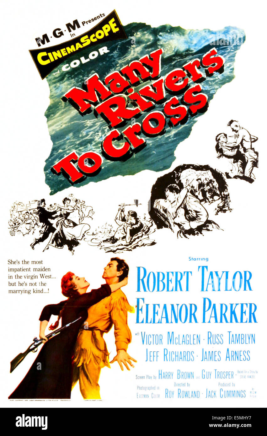 MANY RIVERS TO CROSS, US poster art, 1955. - Stock Image