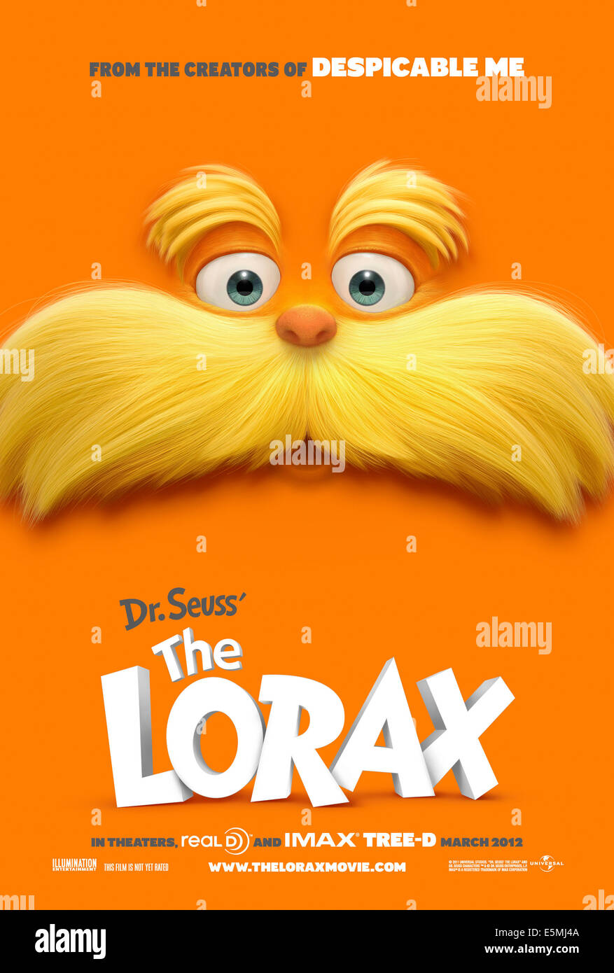 DR. SEUSS' THE LORAX, The Lorax US advance poster, 2012, ©Universal Pictures/courtesy Everett Collection - Stock Image