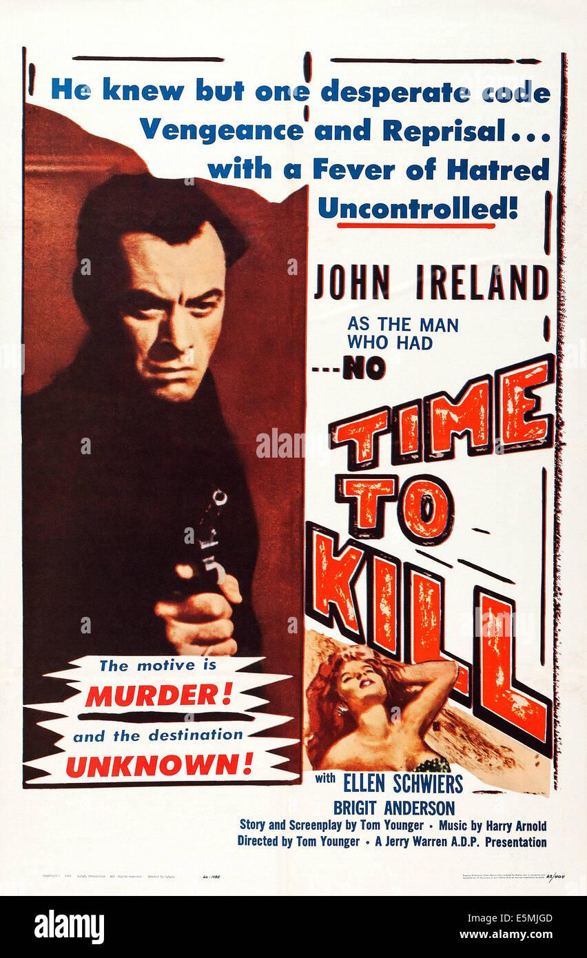NO TIME TO KILL, (aka MED MORD I BAGAGET), US poster art, John Ireland, 1959 - Stock Image