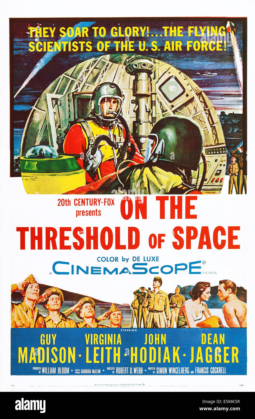 ON THE THRESHOLD OF SPACE, US poster, 1956. TM & copyright © 20th Century-Fox Film Corp. All rights reserved/courtesy - Stock Image