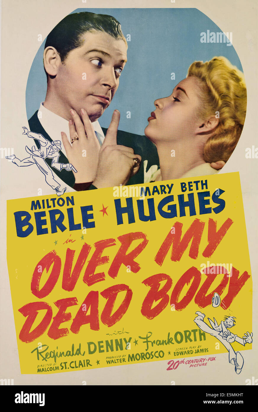 OVER MY DEAD BODY, from left, Milton Berle, Mary Beth Hughes, 1942, TM and copyright ©20th Century Fox Film - Stock Image