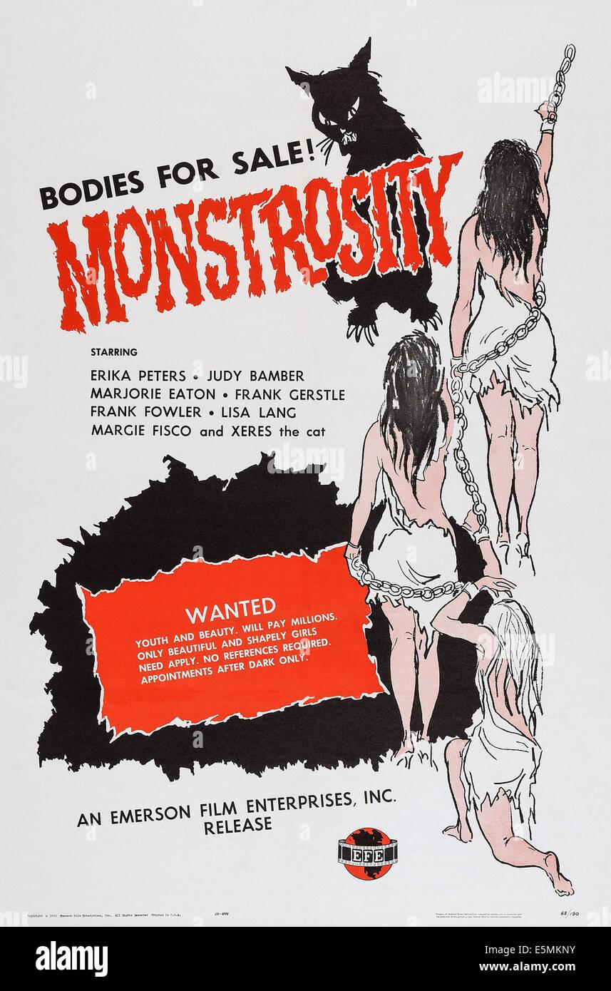 MONSTROSITY, poster art, 1963. - Stock Image