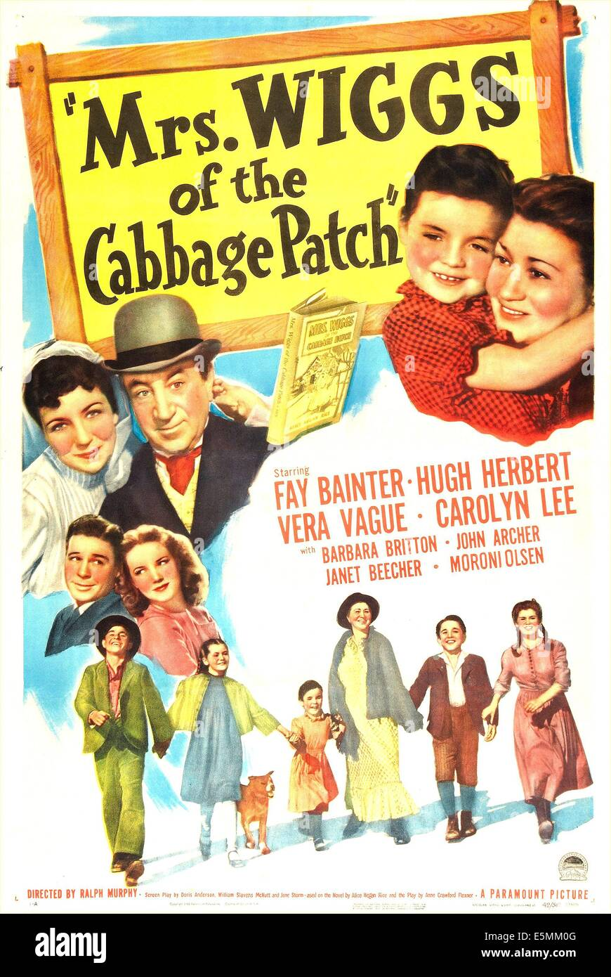 MRS. WIGGS OF THE CABBAGE PATCH, US poster, middle from left: Vera Vague, Hugh Herbert, Carolyn Lee, Fay Bainter, - Stock Image