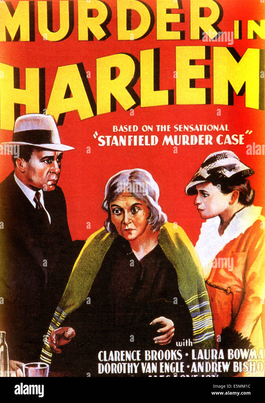 MURDER IN HARLEM, 1935 - Stock Image