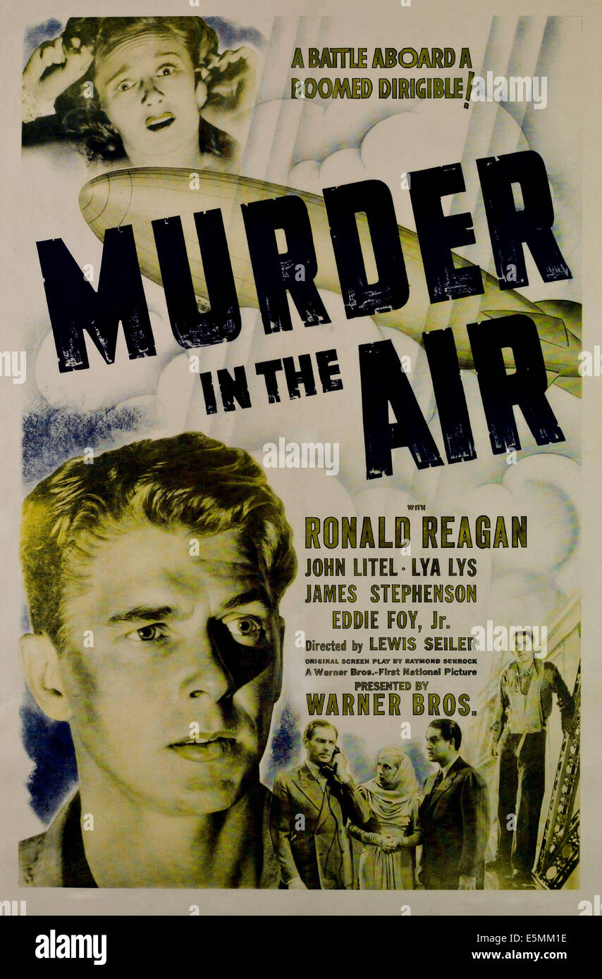 MURDER IN THE AIR, from top, Lya Lys, Ronald Reagan, 1940 - Stock Image