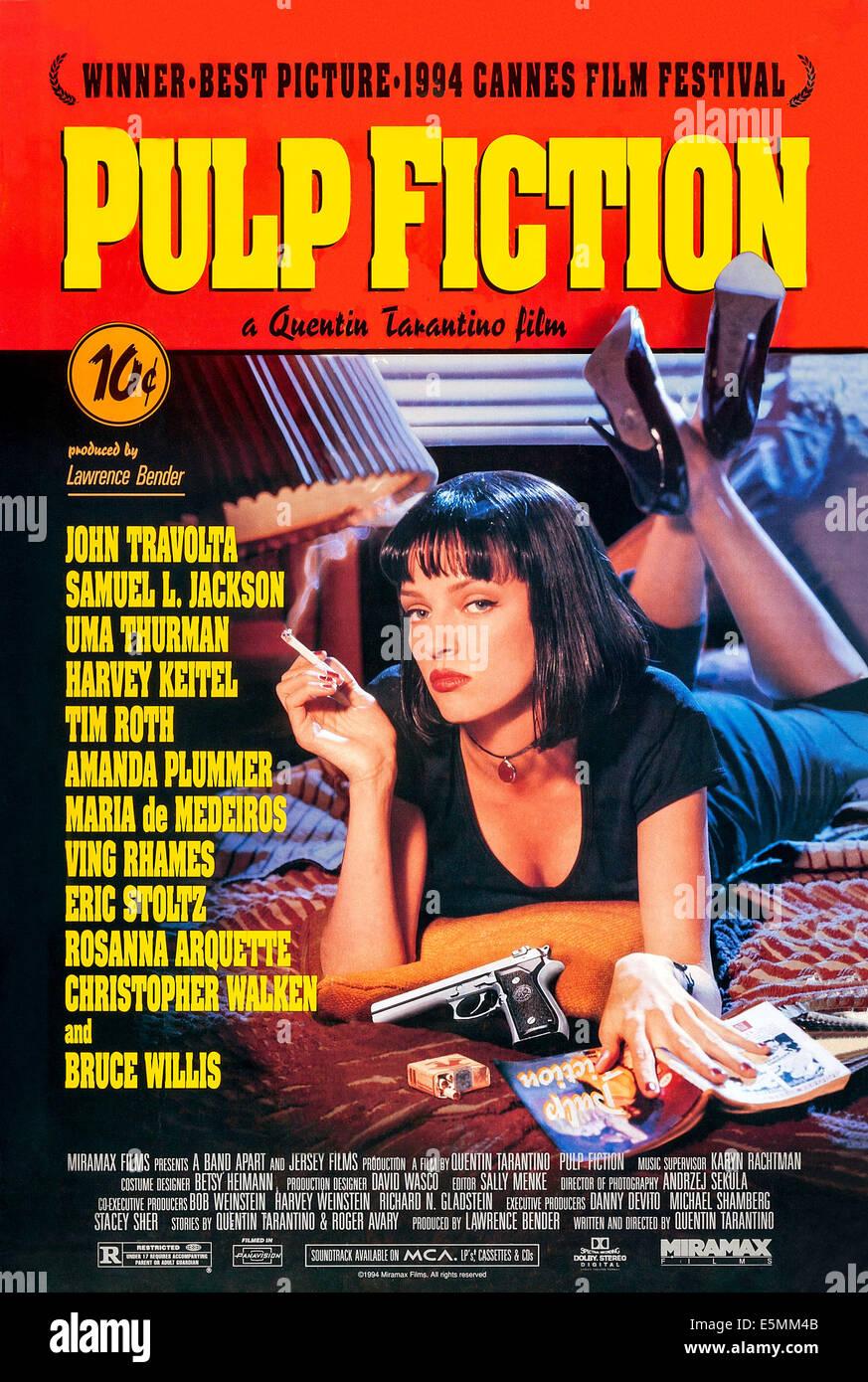 PULP FICTION US Poster Art Uma Thurman 1994 CMiramax Courtesy Everett Collection