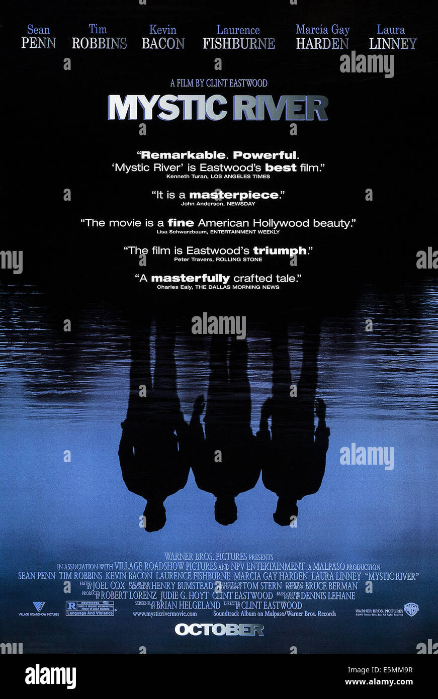 MYSTIC RIVER, US advance poster art, 2003, © Warner Brothers/courtesy Everett Collection - Stock Image