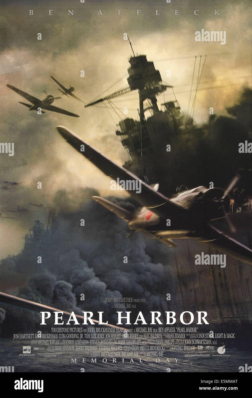 PEARL HARBOR, US poster art, 2001. - Stock Image