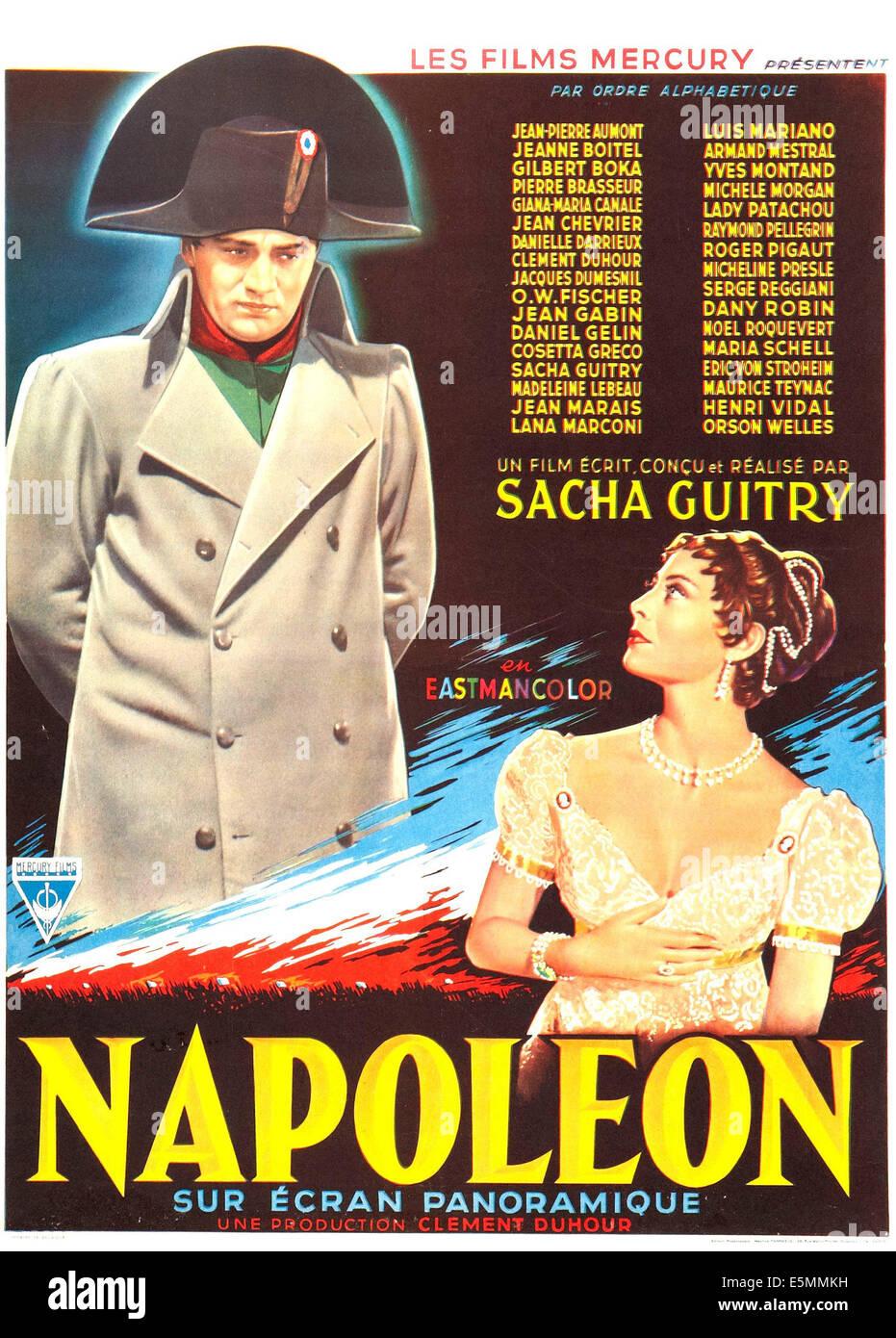 NAPOLEON, US poster art 1955. - Stock Image