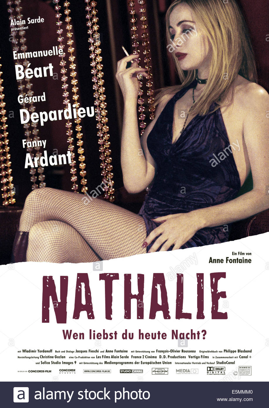NATHALIE, Emmanuelle Beart, 2003 - Stock Image