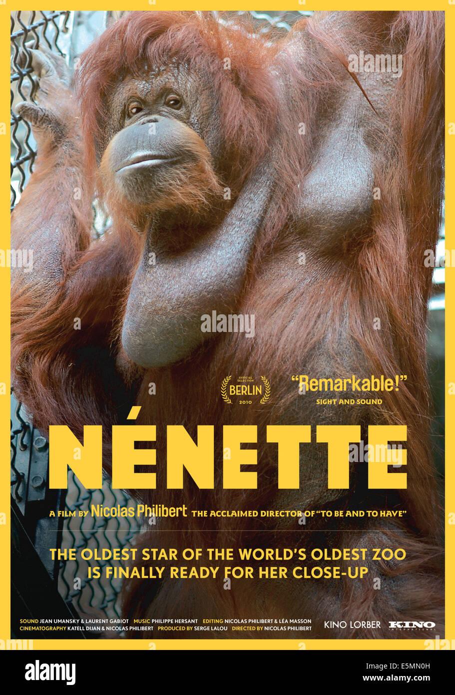 NENETTE, poster art, 2010, ©Kino International/courtesy Everett Collection - Stock Image
