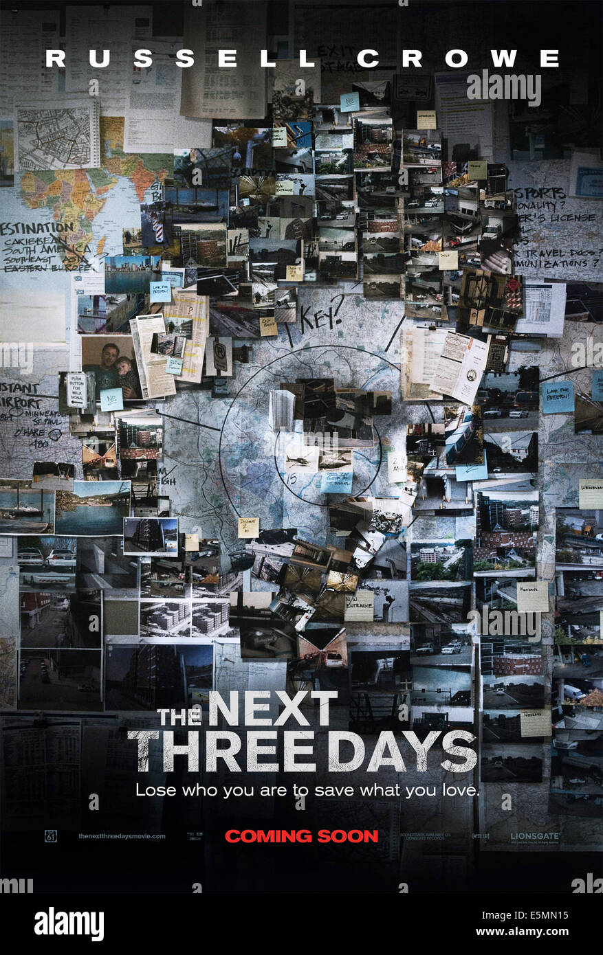 THE NEXT THREE DAYS, poster art, 2010, ©Lionsgate/courtesy Everett Collection - Stock Image