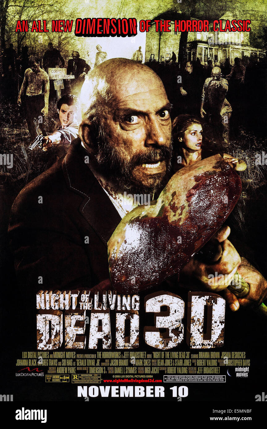 NIGHT OF THE LIVING DEAD 3D, US advance poster art, Sid Haig, 2006. ©Midnight Movies/courtesy Everett Collection - Stock Image
