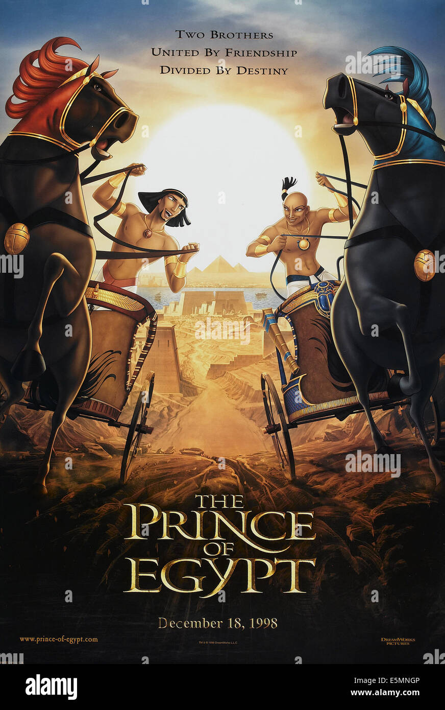 THE PRINCE OF EGYPT, US advance poster art, 1998. ©DreamWorks/courtesy Everett Collection - Stock Image