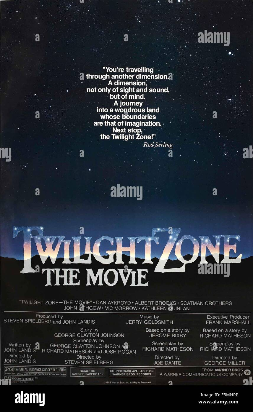 TWILIGHT ZONE: THE MOVIE, 1983, ©Warner Bros./courtesy Everett Collection - Stock Image