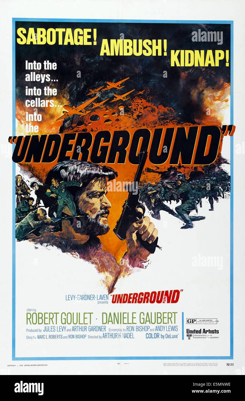 UNDERGROUND, US poster art, Robert Goulet, 1970 Stock Photo