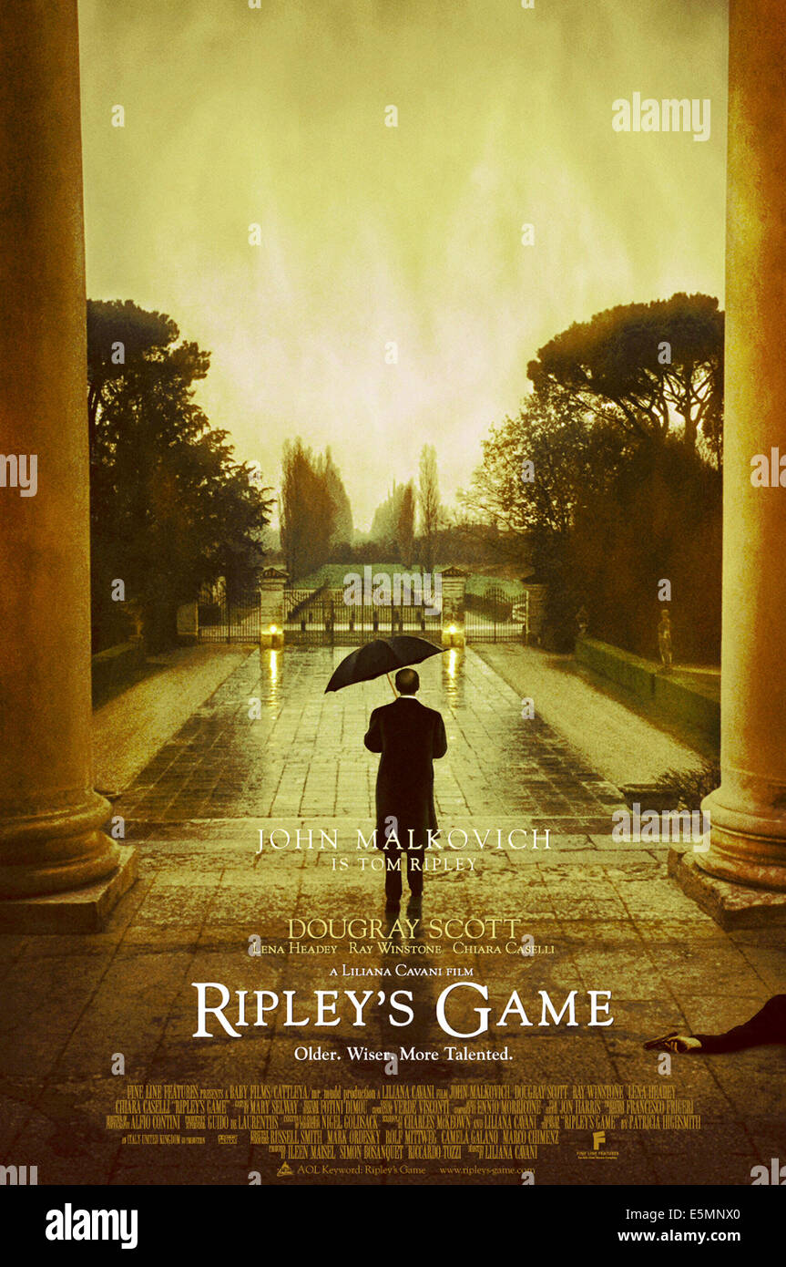 RIPLEY'S GAME, 2002, (c) Fine Line Features/courtesy Everett Collection - Stock Image